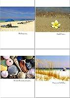Fun in the Sun–50誕生日カードBest値Seashoreビーチ砂ハワイアン{ JG }