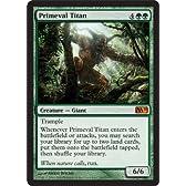 MTG 英語版 M11 原始のタイタン Primeval Titan 緑 神話レア 基本セット2011 マジック・ザ・ギャザリング