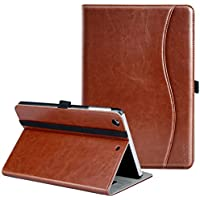 iPad Mini ケース Ztotop iPad Mini2 ケース iPad Mini3 ケース 高級PUレザー オートスリープ機能付き ポケット付き 手帳型 全面保護 iPad mini1/mini2/mini3(7.9インチ)通用 スマートケース(ブラウン)