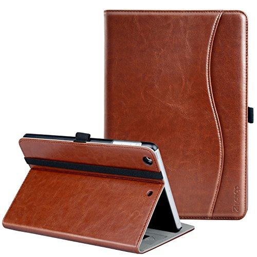 iPad Mini ケース Ztotop iPad Mini2 ケース iPad Mini3 ケース 高級PUレザー オートスリープ機能付き ポケット付き 手帳型 全面保護 Apple iPad mini1/mini2/mini3(7.9インチ)通用 スマートケース(ブラウン)