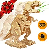 NEW YEAR SALE | T-Rex Dinosaur Walking Wooden 3D Puzzle Robot Toys - TOP GIFT Building Toy Craft Puzzles for Kids -