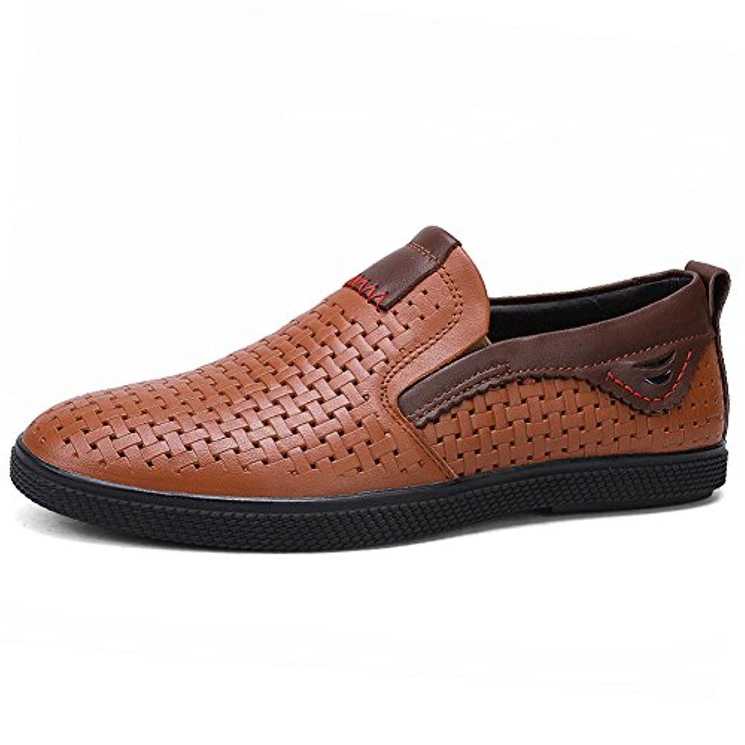 甥ジョガーいたずらな[Easternstar] ビジネスシューズ メンズ Business Shoe Mens 牛革 シンプル パンチング ローカット ビジネス カジュアル