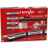 PEQUETREN Pequetren 685クラシックRenfe Cercanias 451ライト&ステーションマスターキャップ付きメタリック鉄道模型