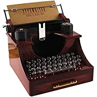 Balaiレトロタイプライター音楽ボックスClassicalデスク装飾Clockworkスタイルミュージカルボックス