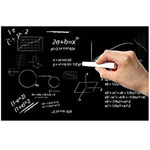 黒板 シール 壁紙 黒板 シート ウォールステッカー ブラックボードシート子供遊び 絵描き 黒板 ステッカー 超便利 チョーク3本付き 45*200cm