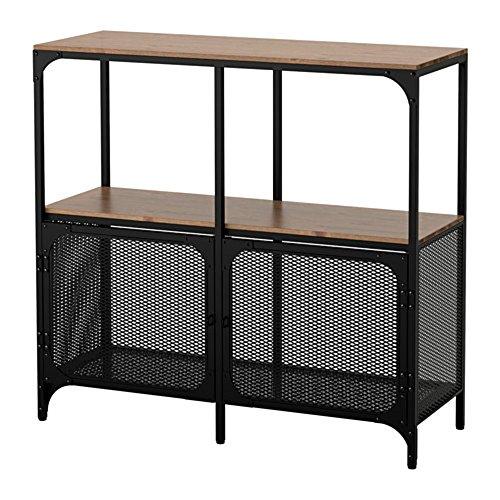 IKEA/イケア FJALLBO シェルフユニット100x95 cm ブラック80339295