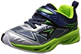 [シュンソク] 運動靴 STORM MAX 15cm~19cm 2E シルバー 18 cm
