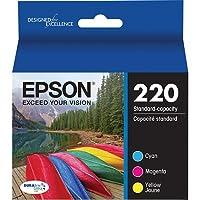 Genuine OEM Pack Cyan Magenta Yellow Ultra Ink Cartridge Epson 220 WorkForce DuraBrite WF-2630WF WF-2650 WF-2660 - T220220 T220320 T220420 - Yield 165 pages [並行輸入品]