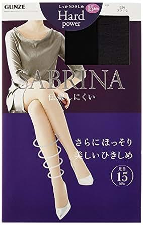 (グンゼ) GUNZE SABRINA Hard power 15hpa (サブリナ ハードパワー15hpa) ストッキング〈同色3足組〉 SB326 026 ブラック L-LL