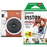 FUJIFILM インスタントカメラ チェキ instax mini 90 ネオクラシック ブラウン + フィルムセット