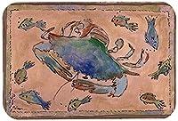 """Caroline 's Treasures 8079-jcmt """" Crab」キッチンやバスマット、24"""" by 36インチ、マルチカラー"""