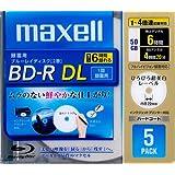 日立マクセル 録画用ブルーレイディスク BD-R DL 260分 (1~4倍速対応) 「ひろびろ超美白レーベル BR50VFWPB.5S