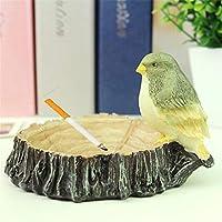 シガー灰皿 - ポータブルラウンドアッシュトレイ - 屋外灰皿や屋内、タバコの灰皿として使用 - 鳥が切り株シガー灰皿形状