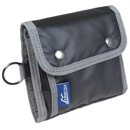 STARTTS スターツ フラップ 二つ折り 短財布 ショートウォレット ブラック MS-03-BK