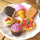 YHSUNN 子供向けのかわいいパズル甘いデザート食品ケーキ消しゴムの30 PCグッズセットパズルおもちゃパーティーの好意教室の宝箱アイテム