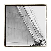 商標ファインアートWAG00828-C1818GG Under Sail Iアート〜によってLaura Denardo、18x18、18x18、多色