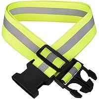 Olycism 反射ベルト 安全ベスト 高視認性 蛍光反射 長さ調節可能 大人子供用 ナイトランブルベ 山登り/ランニング/ウォーキング/ジョキング/自転車/散歩など適用