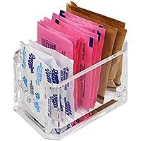 アラドクリスタルクリアレストランスタイルアクリル甘味料、砂糖、Sweet ' n Lowホルダー24パケット容量
