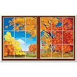 Beistle 1パックDecorative Autumn Instaビュー、3-feet、2インチ5フィート2インチ