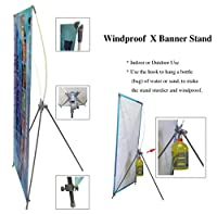 TheDisplayDeal Outdoor Use X Stand for Grommeted Banners (23X63 1 pcs) [並行輸入品]