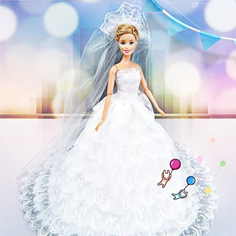 DSstyleエレガントnine-layersレースケーキスカートウェディングドレスwith MantillaのプリンセスBobbi人形29 cm ( The人形is not include £