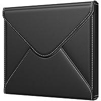 スリーブケース - ATiC Kindle Oasis 2017 7インチタブレット/電磁辞書用 収納ケース・バッグ PU皮革製+繊維 磁石式開口部 軽量コンパクト - 封筒形 BLACK