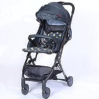 赤ちゃんのベビーカー軽量折りたたみ高地の子供のカートは、赤ちゃんの四輪車に変更することができます (色 : B)