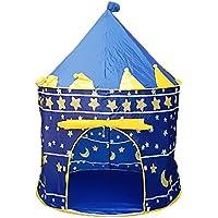 (トレテゾーリ)Tre tesori キッズテント 子供用テント 折りたたみ式 屋内屋外 収納バッグ付 (ブルー)