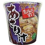 旭松食品 カップ生みそずいあさり汁 (23g+殻付あさり5個入)×6個