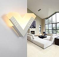 アクリルリモートコントロールLED壁ランプモダンシンプルマットクリエイティブ形状ベッドサイドランプ通路階段ライト(約束減衰) 1458777894