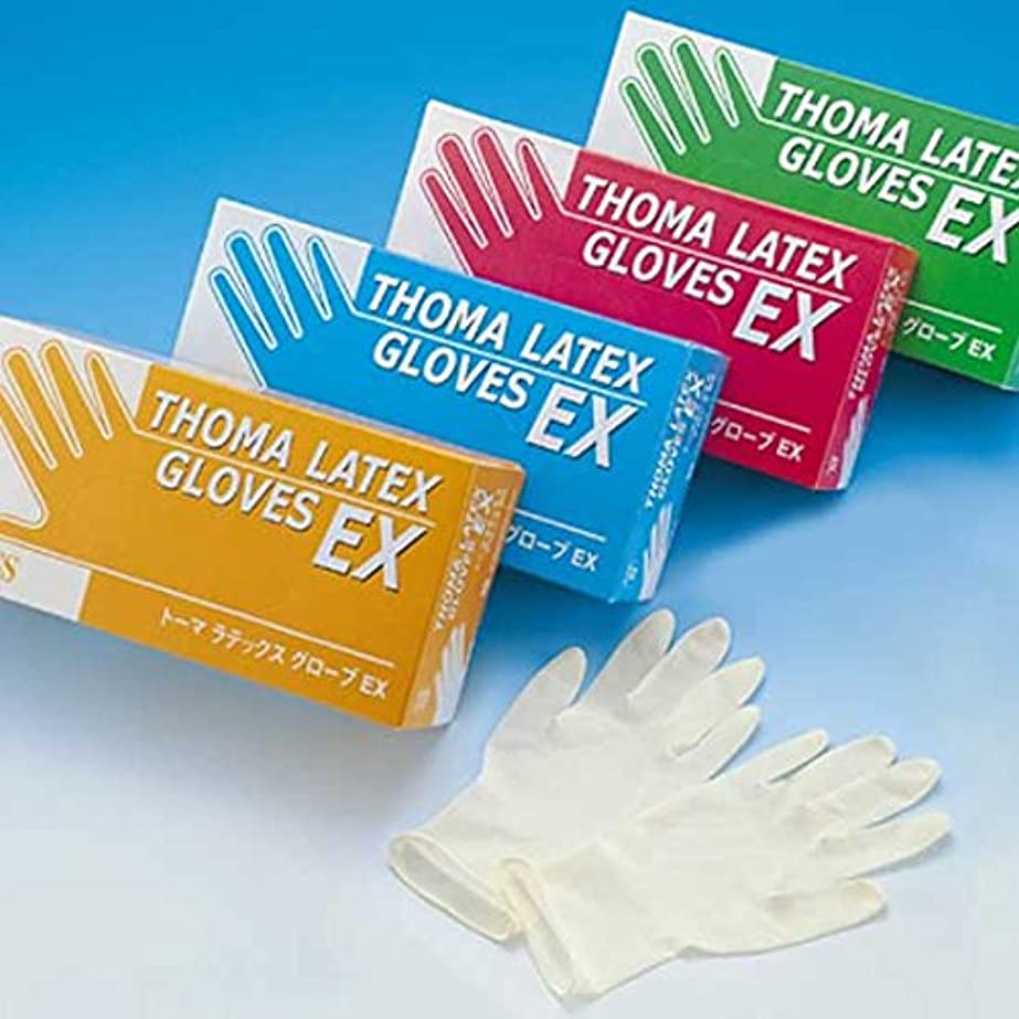 遺伝的起訴する弓トーマラテックス手袋EX 天然ゴム 使い捨て手袋 粉つき2000枚 (100枚入り×20箱)まとめ買い (SS)