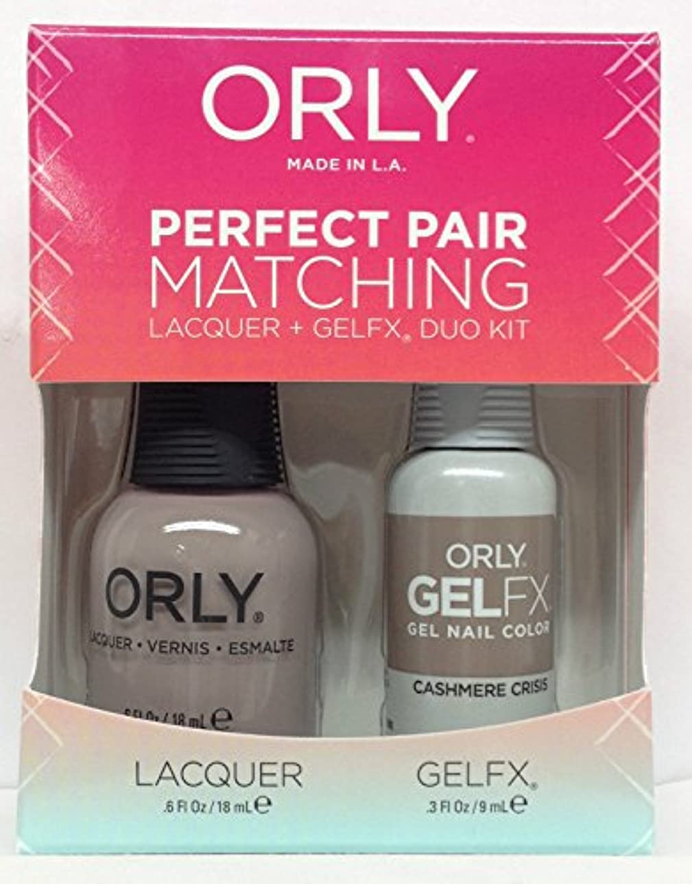 薄める続編強制Orly - Perfect Pair Matching Lacquer + GelFX Kit - Cashmere Crisis - 0.6 oz / 0.3 oz