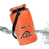防水ドライバッグ袋、Lantoo 15lフローティング圧縮ロールトップDry SackバックパックW/2ジッパーポケット、取り外し可能ショルダーストラップ, Keepギアドライのカヤック、ラフティング、ボート、ハイキング、キャンプ、釣り