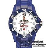 【感動をありがとう!】FIFA公認 腕時計 2018年 ワールドカップ W杯 記念 ロシア サッカー 日本代表 カラー かっこいい おしゃれ シリコン 人気 スポーツ (ホワイト)