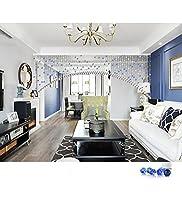 LIQICAI クリスタルビーズの装飾カーテンDIY&ウェディング&ホーム&壁の装飾のペンダントの戸口吊り - 5色使用可能 (色 : Mid Blue, サイズ さいず : Wide 180cm)