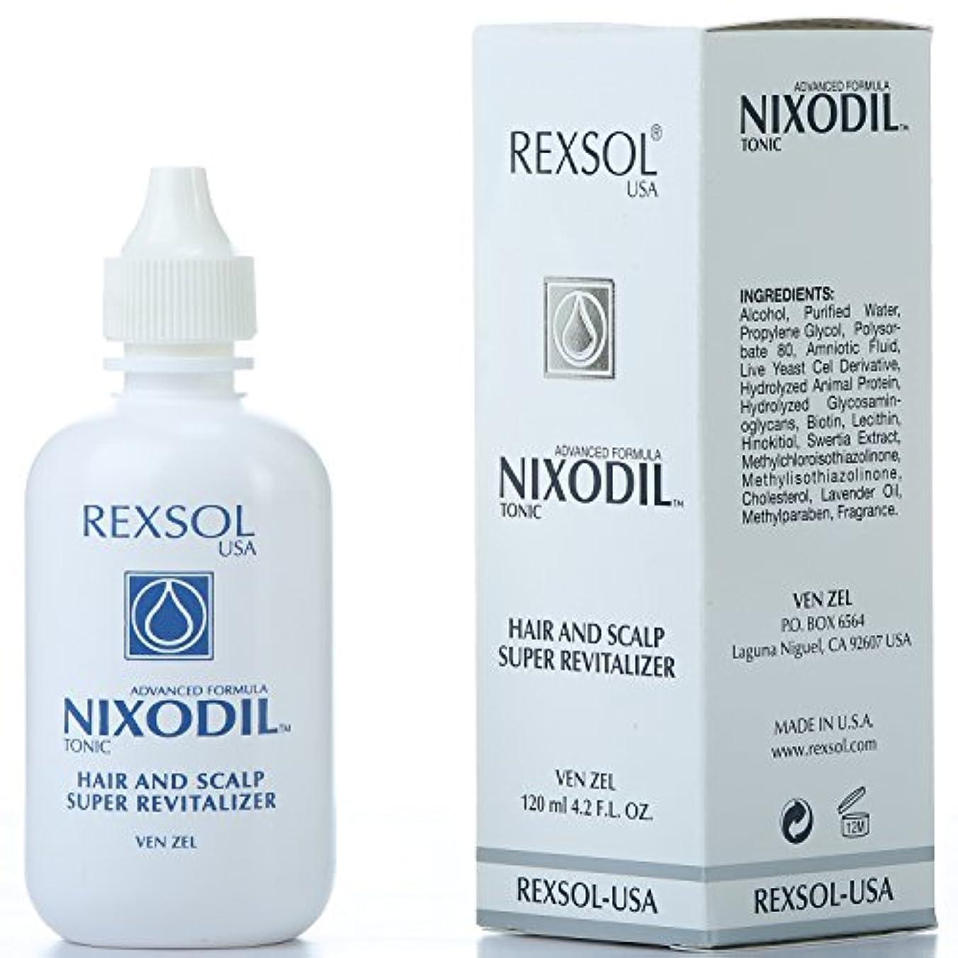 観察平らにする奨学金REXSOLニクソディルヘア&スカルプスーパーリバイタライザー| ライブ酵母細胞誘導体、ビオチン、レシチン、Swertia Extract&ラベンダーオイル| 毛の損失と刺激的な成長を防ぎます(120 ml / 4.2...