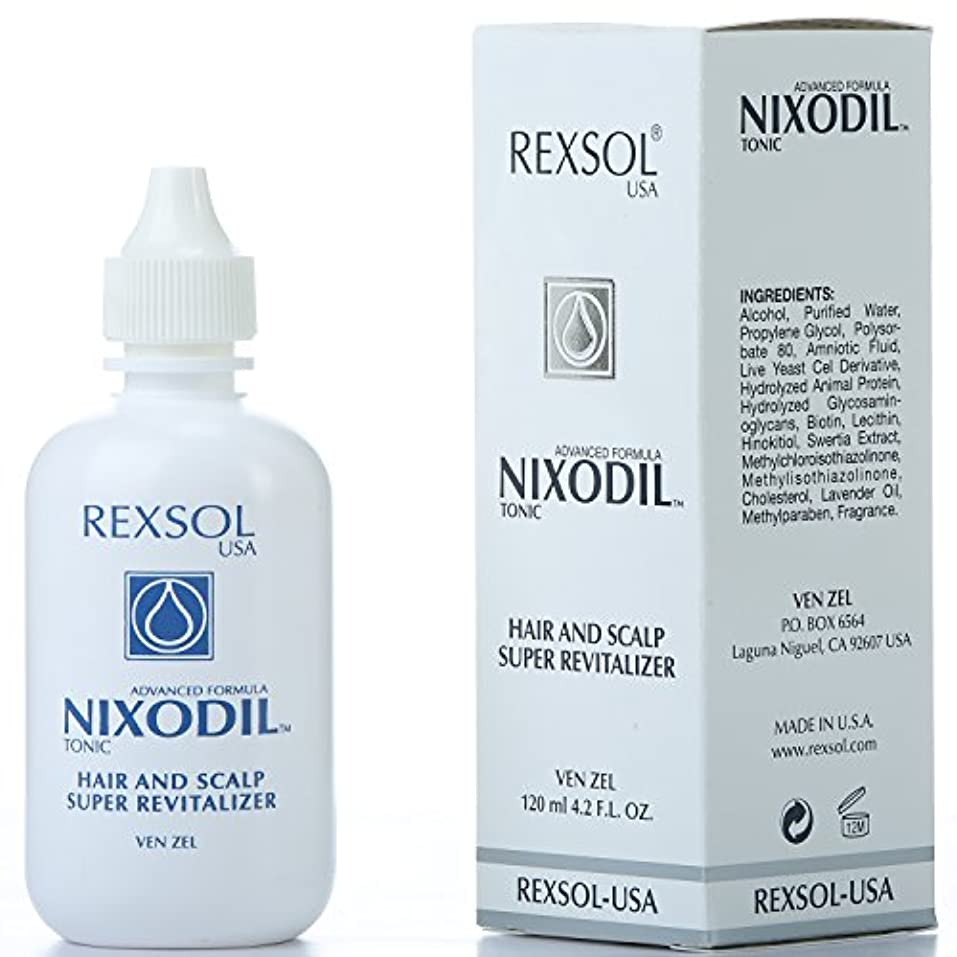 情熱的精巧な銛REXSOLニクソディルヘア&スカルプスーパーリバイタライザー  ライブ酵母細胞誘導体、ビオチン、レシチン、Swertia Extract&ラベンダーオイル  毛の損失と刺激的な成長を防ぎます(120 ml / 4.2 fl oz)