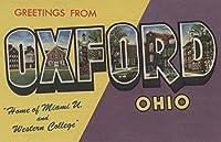 オックスフォード、オハイオ州–マイアミUとWestern College–Large Letterシーン 36 x 54 Giclee Print LANT-8773-36x54