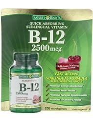 Nature's Bounty B-12  2500mcg 250錠(舌下錠タイプ)ビタミンB12