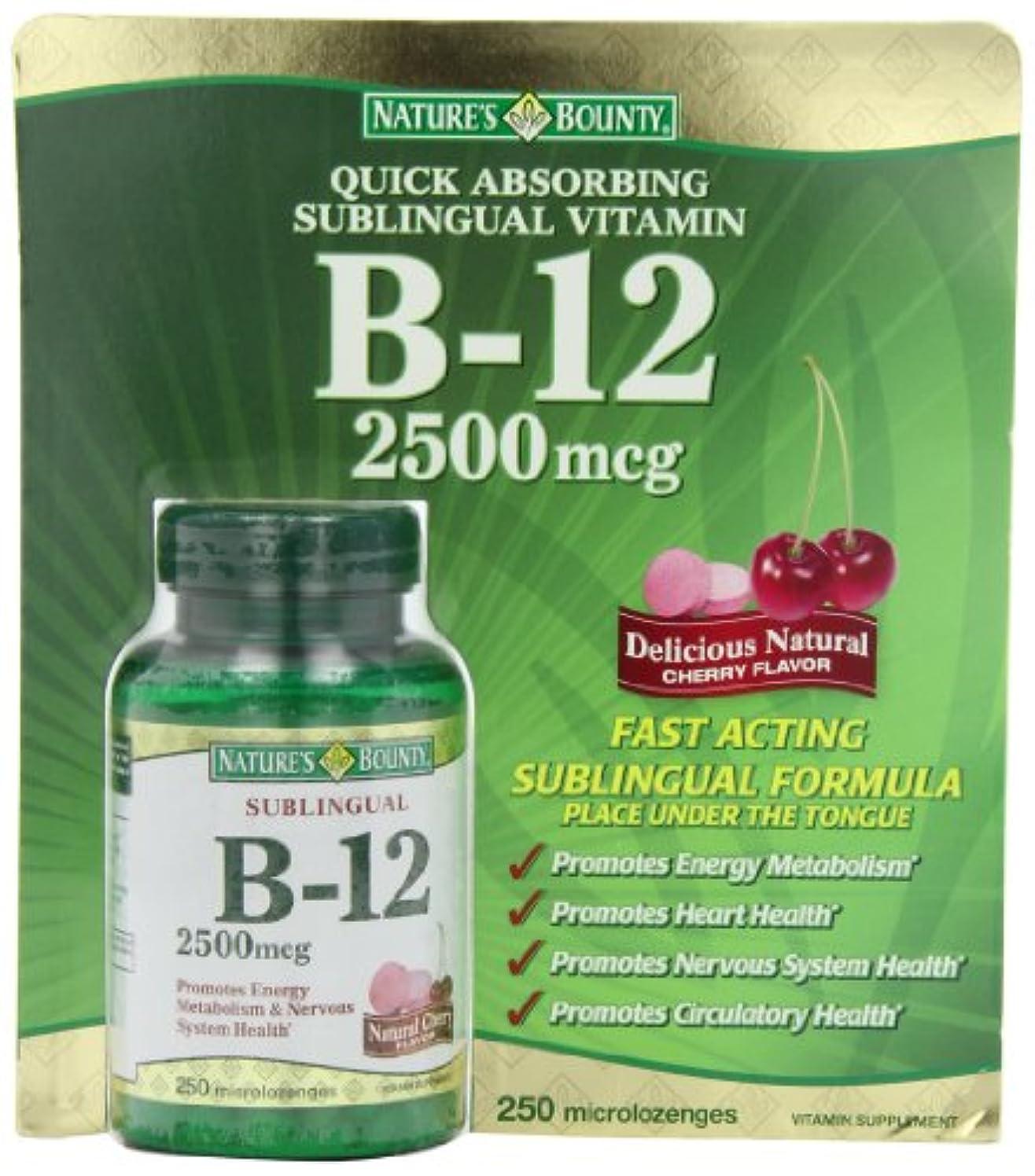 失望させる愛人直面するNature's Bounty B-12  2500mcg 250錠(舌下錠タイプ)ビタミンB12