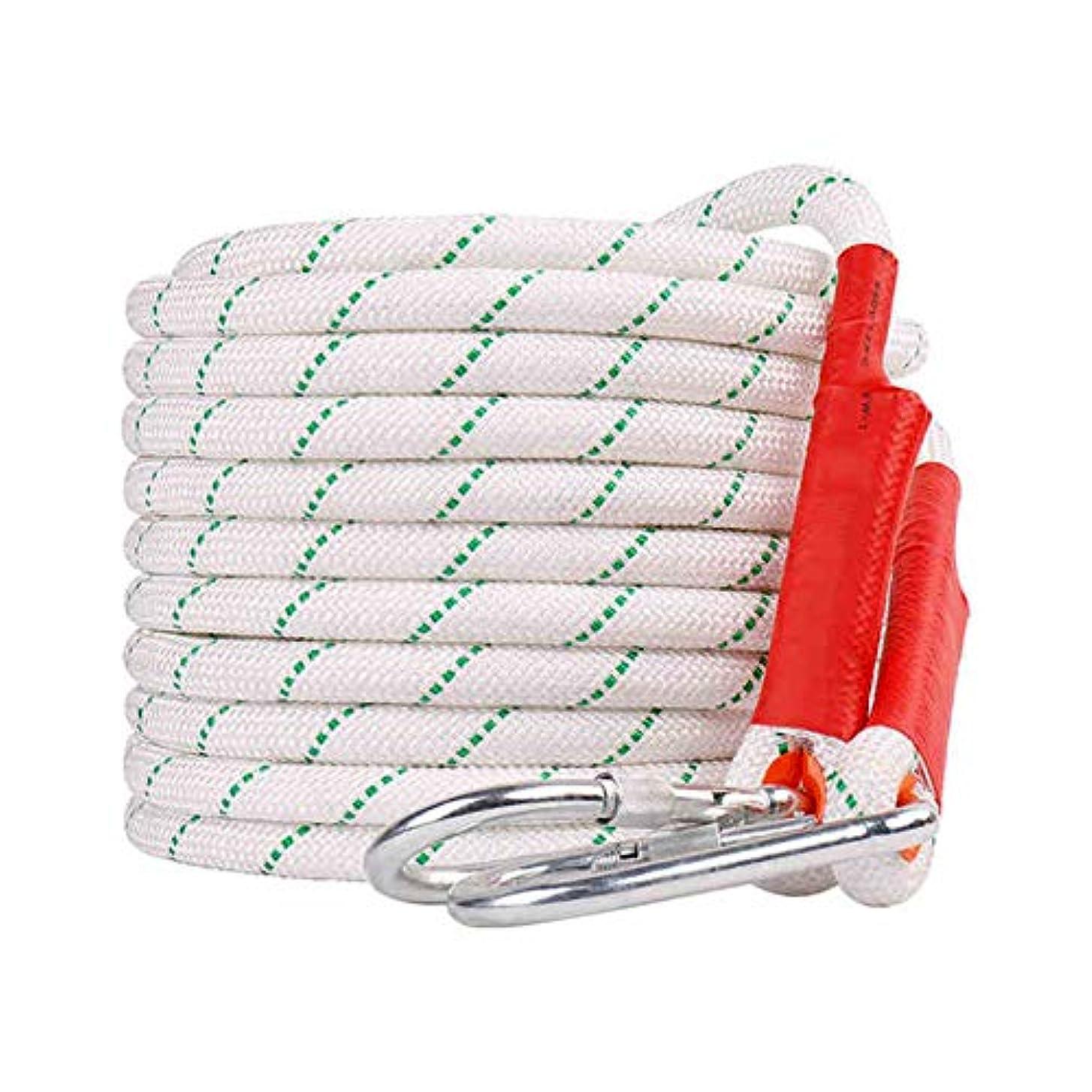 太いみあえぎ屋外クライミングロープ直径18mm 安全ロープ耐摩耗性空中作業ロープ消防救助ロープ最大安全引っ張り力2200kg,18mmindiameter,80m
