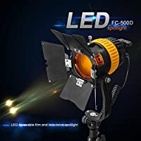 500Dカメラビデオ用ポータブルハイカラーレンダリングインデックス5500 / 3200K 50W LEDスポットライトが連続点灯
