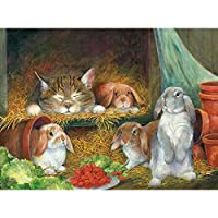 Bits and Pieces - Bunnies 500 Piece Jigsaw Puzzles for Adults - Each Puzzle Measures 46cm X 60cm - 500 pc Jigsaws by Artist Lynne Jones