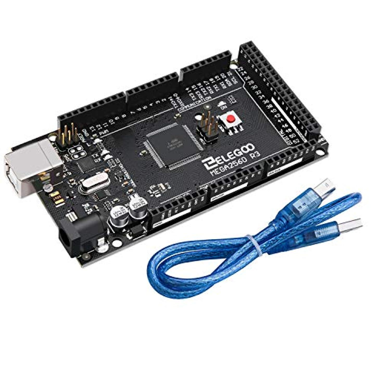 線周り親指Elegoo MEGA2560 R3ボード ATmega2560 ATMEGA16U2 + USB ケーブル Arduino用
