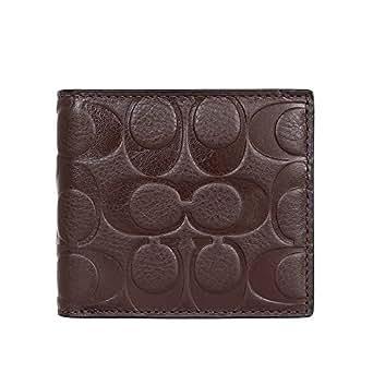 [コーチ] COACH 財布(二つ折り財布) F75005 マホガニー シグネチャー エンボスド レザー コイン ウォレット メンズ [アウトレット品] [ブランド] [並行輸入品]