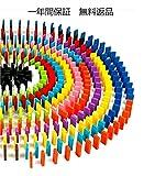 ORIENT HORIZON 木製 ドミノ 倒し カラフル 知育 積み木 (10色×12個:120個セット)