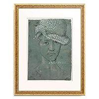 ハンス・バルドゥング 「Self portrait. About 1502」 額装アート作品