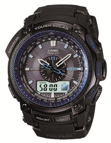 [カシオ]CASIO 腕時計 PROTREK プロトレック BLACK×BLUE SERIES タフソーラー 電波時計 MULTIBAND 6 PRW-5000Y-1JF メンズ