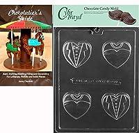 "Cybrtrayd bk-w073"" Bride Groomハートクッキー""チョコレートキャンディ金型、クリア"