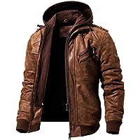 Men's Player Unknown's Battleground PUBG Gen G Hooded Distressed Brown Leather Jacket